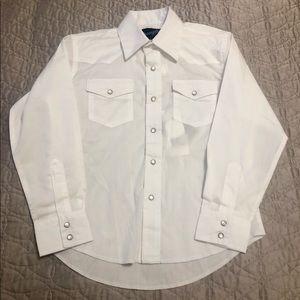 White Wranglers Western Shirt